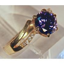 Rsp J3360 Anel Prata 925 A Ouro Tanzanita Brilhantes