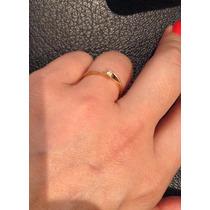 Anel Solitário De Diamante 5 Pontos Ouro Amarelo 18k