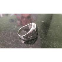 Anel Em Prata 950 E Pedra Onix Peso 6.4 Gramas