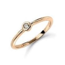 Anel Ponto De Luz Com Diamante 5 Pontos - Cwb Joias