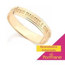 Anel Aliança Rommanetudo Posso Fortalece Folhe Ouro 511476
