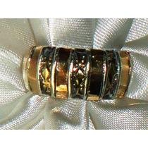 Elegante,raro Anel Unissex Em Prata-de-lei/ouro,itália,50