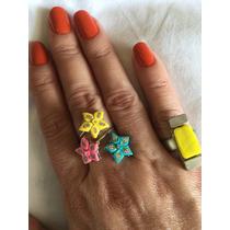 Anel De Flor E Outro Minimalista Conjunto De Dois Anéis
