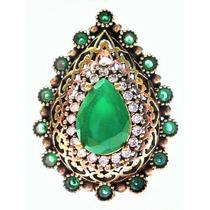 Promoção-eum-anel Turquia Turco Prata 925 Jade Esmeralda