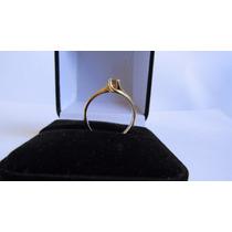 Anel Solitário Com Diamante Amsterdã 5 Pontos Ouro 18k