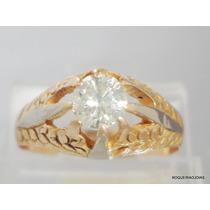 Boqueiraojoias Anel Solitario 1 Diamante 40pts Ouro 18k-750