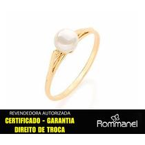 Anel Solitário Pérola 6 Mm Rommanel 510171