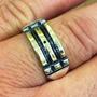 Reforçado Anel Atlantis Com Ouro E Prata Infinito 12561