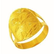 Anel Aliança Escrava Egito Trabalhado 1.7 Cm Ouro 18k Desenh
