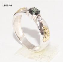 Anel De Formatura Prata 950k Emblemas Em Ouro 18k Ref 003