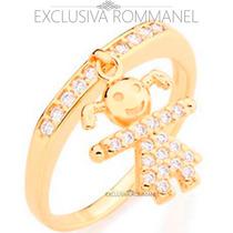 Rommanel Anel 27 Zirconias Menina Menino 511460 511461