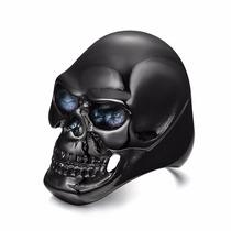 Anel Titânio Caveira Motoqueiro Moto Harley Rock Gotico