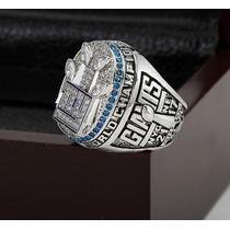 Anel Super Bowl New York Giants Maciço Prata Ouro Branco