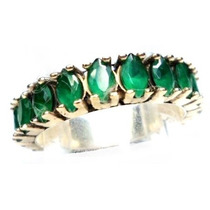 Hrv-anel Alianç Turquia Turco Prata 925 Jade