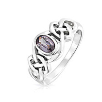 Bling Jewelry Turno Sterling Alexandrite Celtic Knot Anel