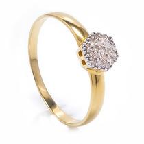 Anel Chuveiro Em Ouro 18 Quilate E Diamantes De 1pt