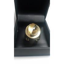 Promoção 7g Anel De Ouro 18k Com Quartzo Rutilado - Aro 21