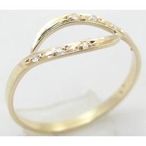 Paris Jóias - Diamantes Em Lindo Anel De Ouro 18k