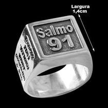 Ki. Conj. Com 10 Anéis Prata 925 Maciça São Jorge E Salmo 91
