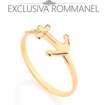 Exclusiva Rommanel Anel Skinny Ancora Folheado Ouro 511934