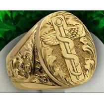 Anel Masculino Artistico Luxury Ouro18k (personalizados)