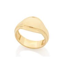 Anel Masculino Parte Superior Abaulada Ouro Rommanel 512085