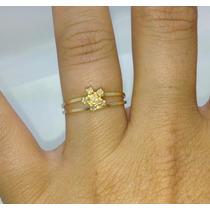 Anel Chuveirinho De Ouro Amarelo 18k 750 E Brilhantes!