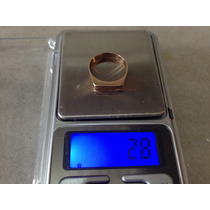 Anel Ouro Baixo Nº21 18,5mm