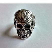 Anel Skull Caveira Prata Aço Masculino Punk Gótico Rock