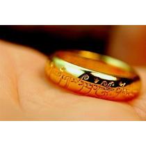 O Senhor Dos Anéis (the Lord Of The Rings) Anel Folhado Ouro