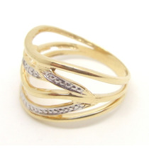 Joalheriavip Anel Com 5 Diamantes Ouro 18k Frete Grátis