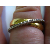 Ivi1388 = Anel Orbital, Ouro Amarelo 18k ,14 Diamantes !!!!