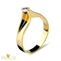 Anel Solitário Ouro Amarelo Tradicional Diamante 10pts Db008