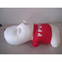 Cachorro Pelúcia Vermelho Deitado P/carro Ppucco