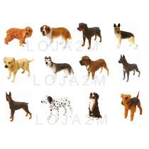 Coleção Completa Com 12 Miniaturas De Cachorros
