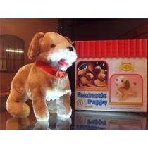 Cachorro Pelucia Puppy Anda Late E Da Cambalhotas Lindo !!!!