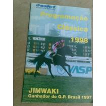 Livreto - Jockey Club Brasileiro Programação Clássica 1998.