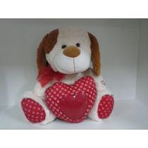 Cachorrocom Coração Amor Namorados Bicho Pelúcia