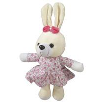 Coelha Mini Da Páscoa Com Vestido 25cm Em Plush Frete Grátis