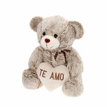 Presente Natal Urso De Pelúcia Coração Ursinho Te Amo