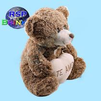 Urso De Pelúcia Coração Ursinho Marrom Fofy Toys Te Amo Rsp