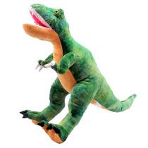 Dinossauro Tiranossauro Rex Grande Marrom Bicho Pelucia