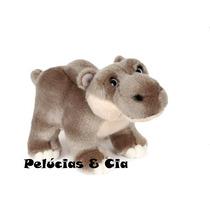 Hipopótamo Baby De Pelúcia Com 15 Cm De Altura