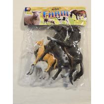 Kit 4 Cavalos De Borracha