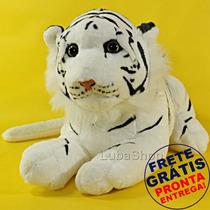 Bicho De Pelúcia Filhote De Tigre Branco Real Safari 48cm