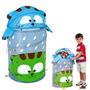 Cesto Dobrável Infantil Porta Objetos Organizador Multiuso
