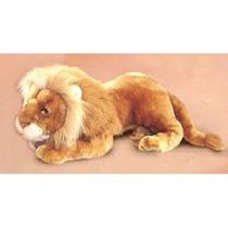 Leão Realístico Jubão Luxor Reale Grandão Pelúcia Rara Nova