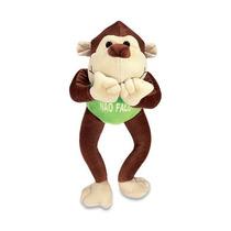 Macaco Não Falo Pelucia Marrom 42cm Lavavel Antialergic Novo