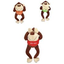 Bicho Pelucia Macaco Não Ouço, Não Vejo, Não Falo Kit 3 Pçs