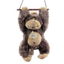 Macaco Que Assobia Fiu Fiu Marrom Bicho Pelucia